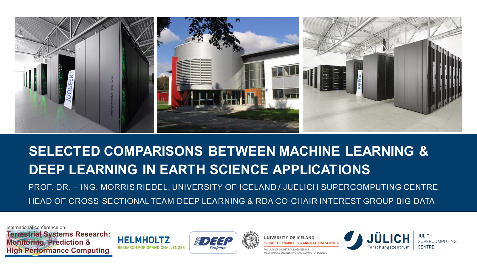 Selected Comparisons Machine Learning and Deep Learning