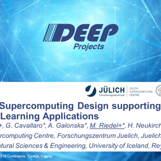 Modular Supercomputing Design supporting Machine Learning Applications