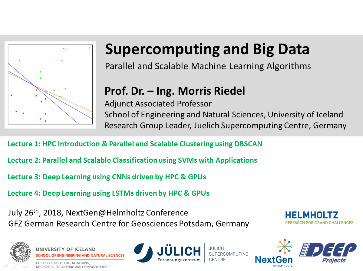 Supercomputing and Big Data Tutorial Parallel and Scalable Machine Learning Algorithms