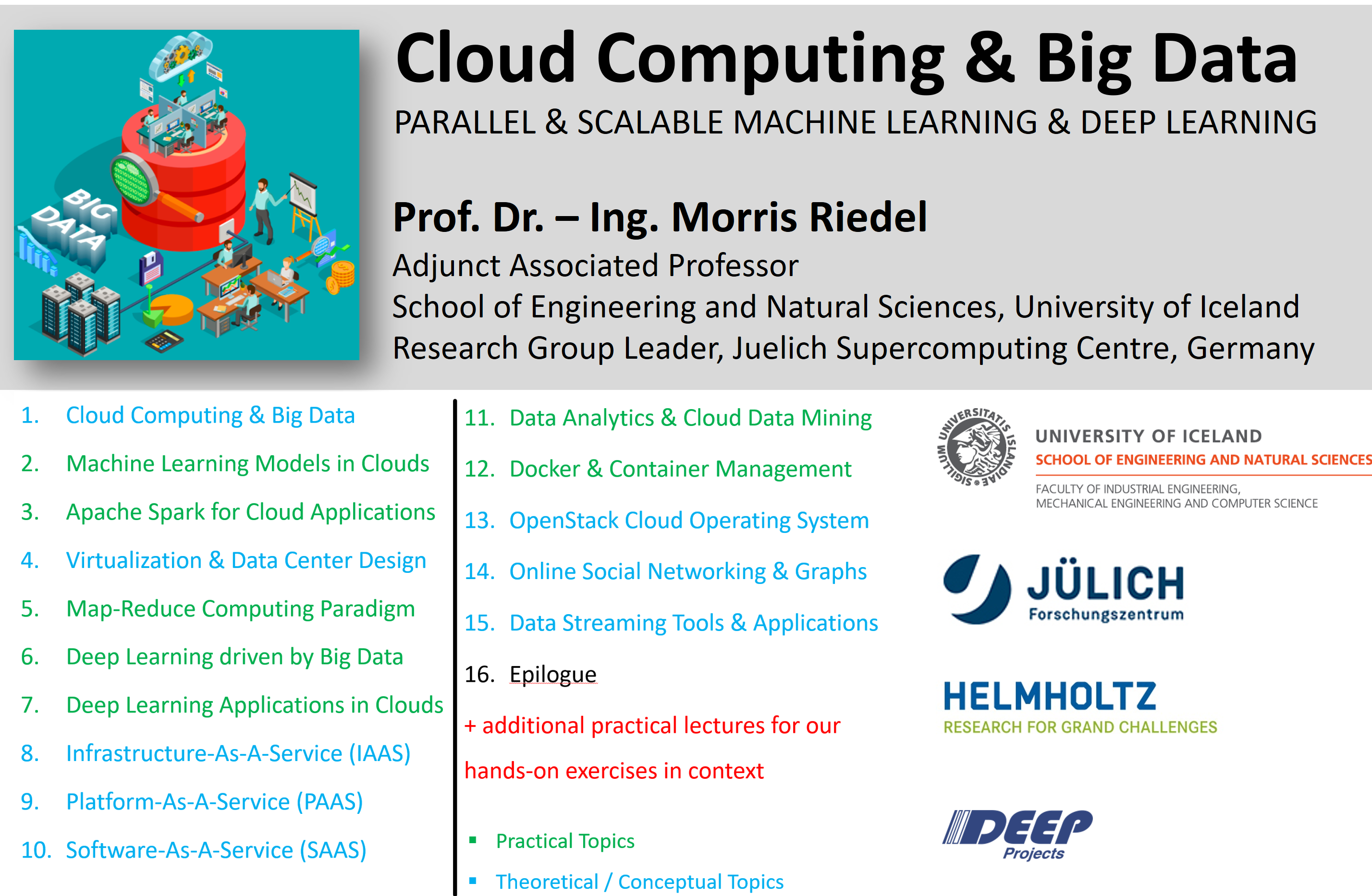 Cloud Computing and Big Data - Course Fall 2018