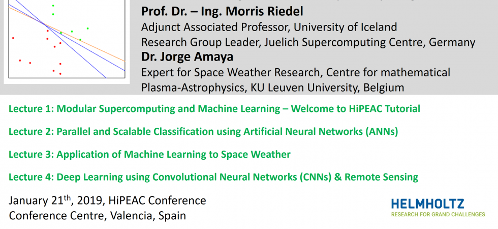 2019-01-21 DEEP EST Tutorial Machine Learning and Modular Supercomputing Content
