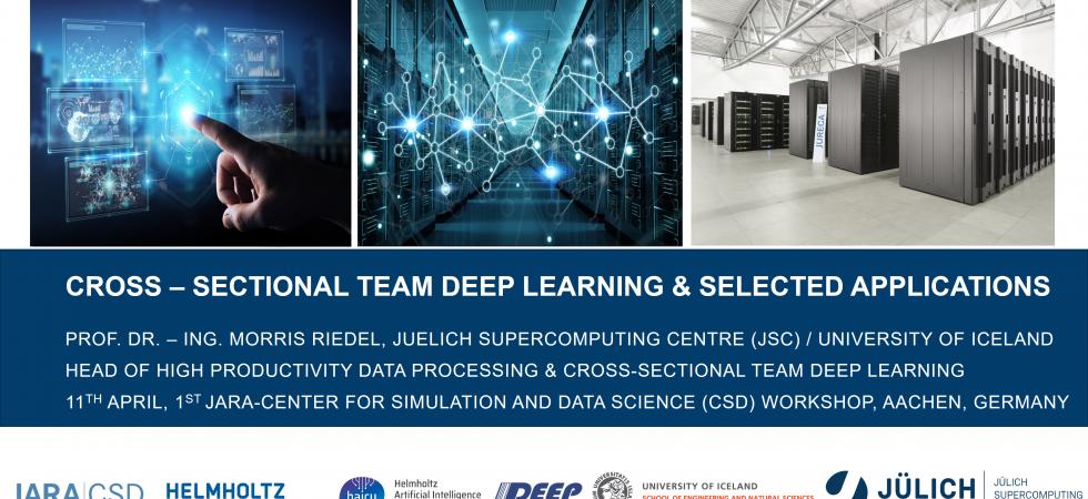2019-04-11 JARA-CSD CST Deep Learning Selected Applications Morris Riedel