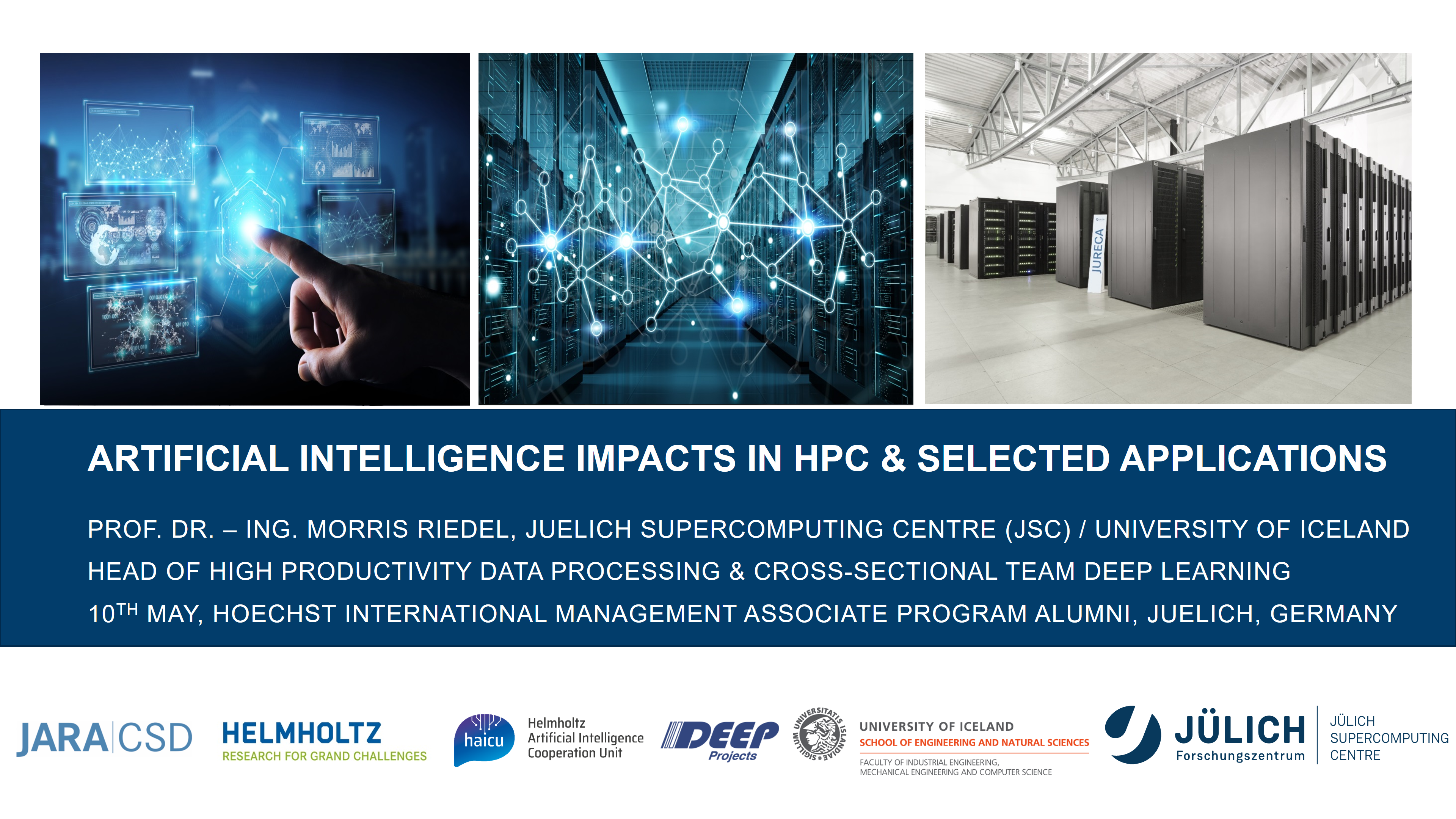 AI Impacts HPC and Applications HIMAP Alumni Morris Riedel