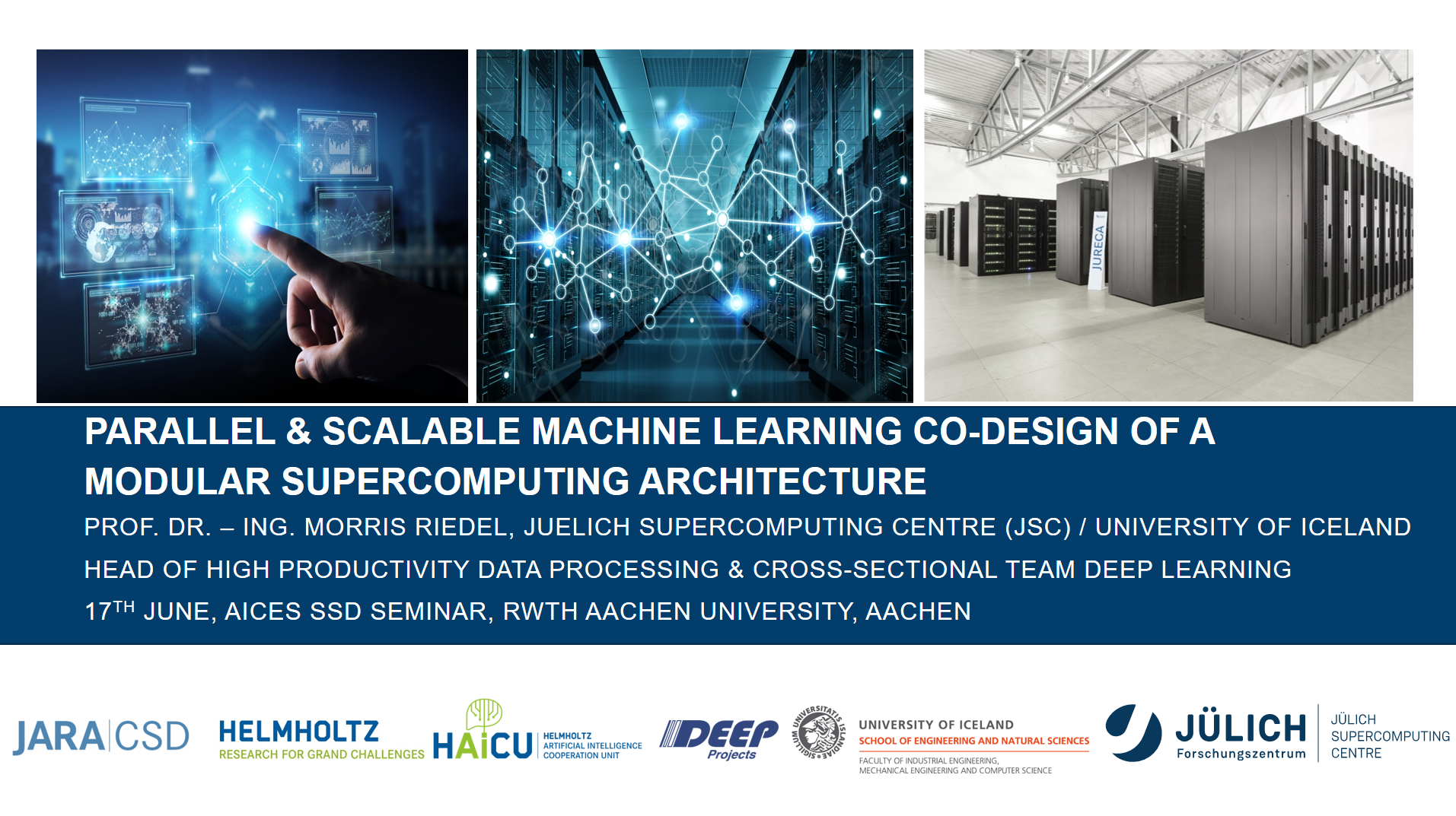Parallel and Scalable Machine Learning Co-Design of a Modular Supercomputing Architecture