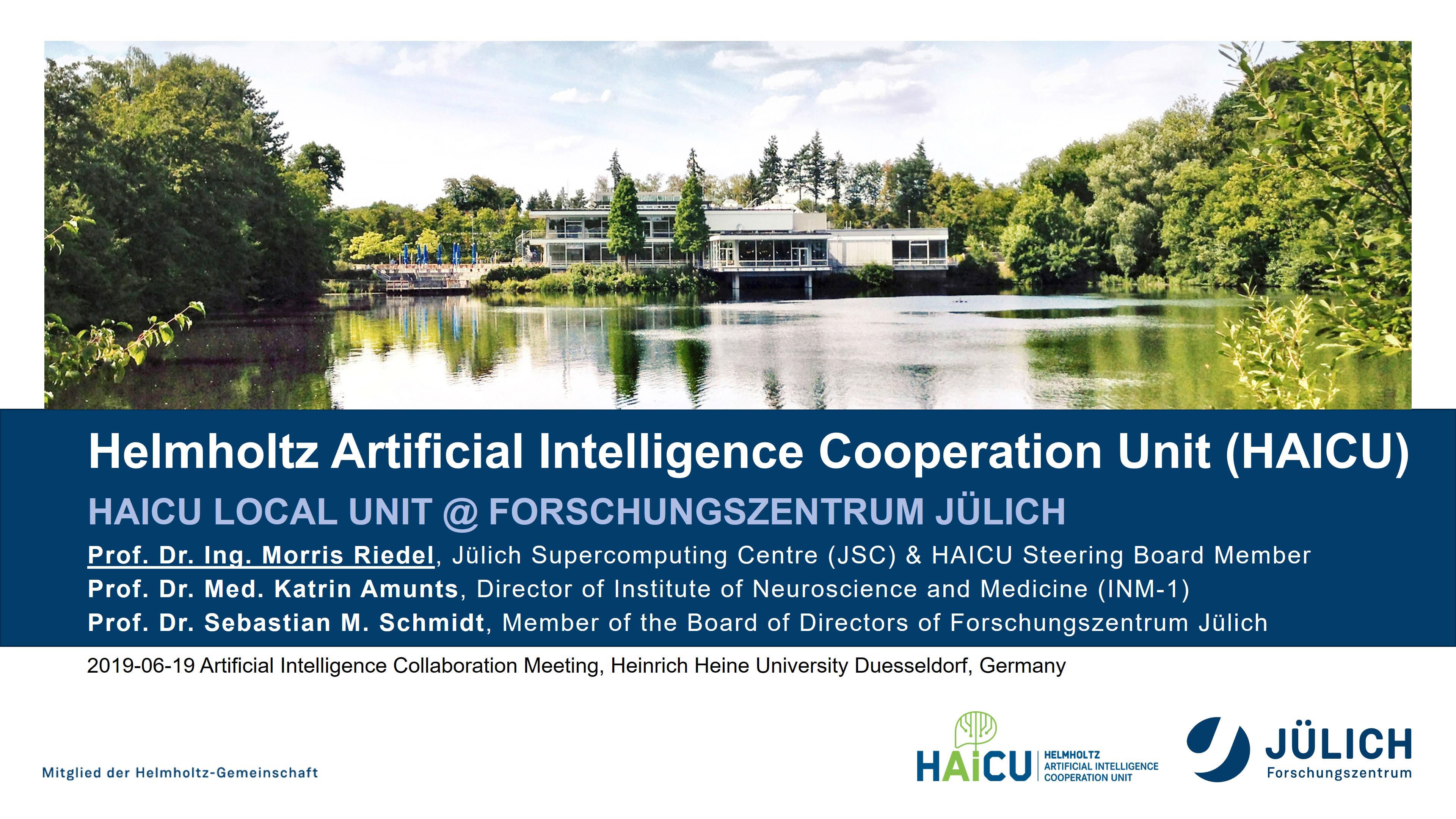 Helmholtz Artificial Intelligence Cooperation Unit - HAICU