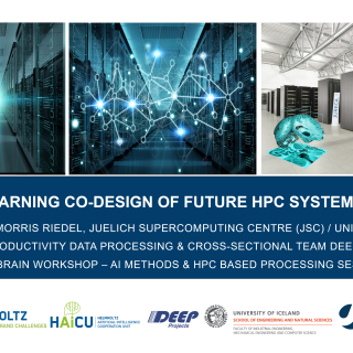 2019-08-21 Machine Learning Co-Design of Future HPC Systems Morris Riedel