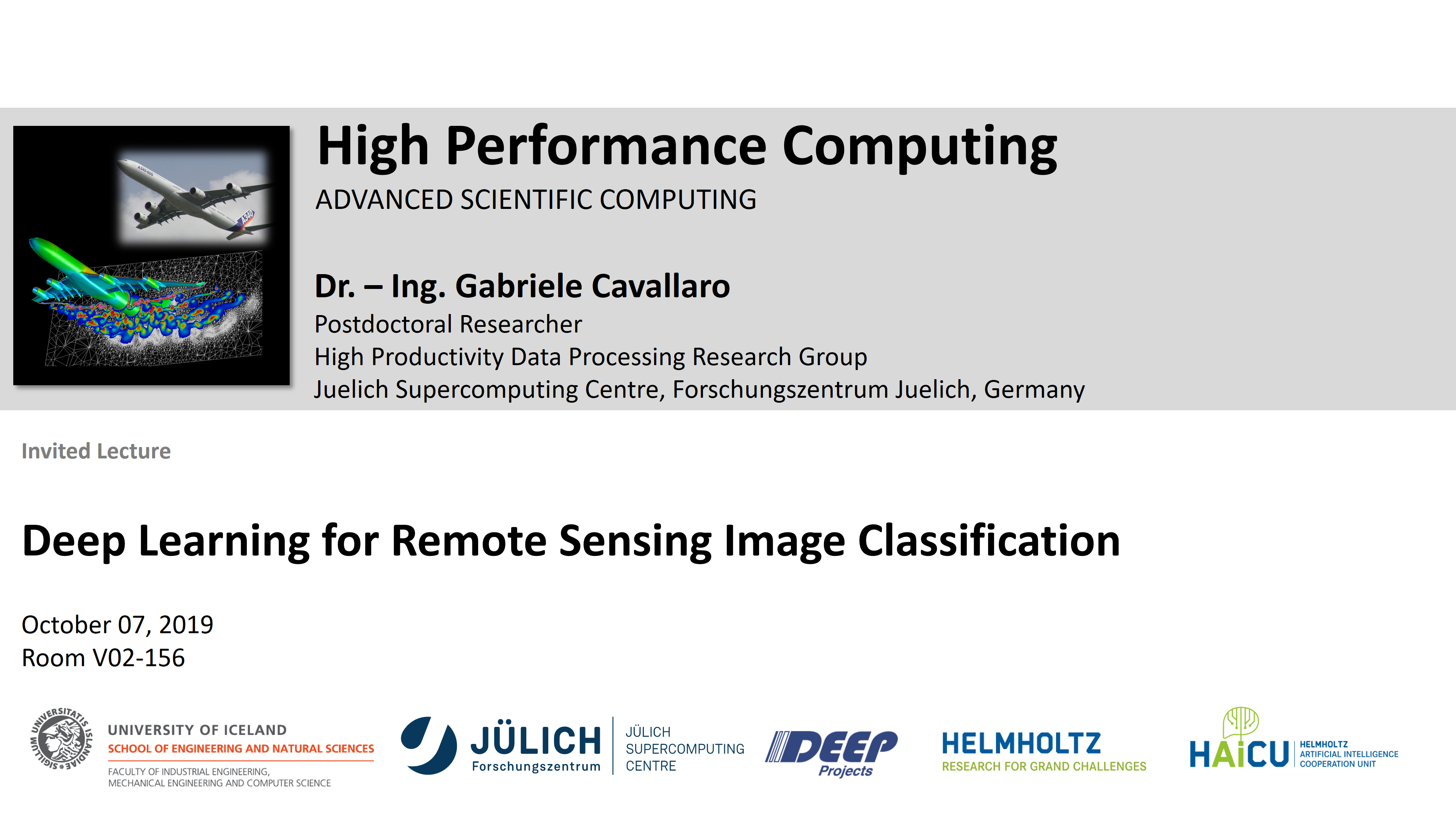 HPC - Deep Learning for Remote Sensing Image Classification