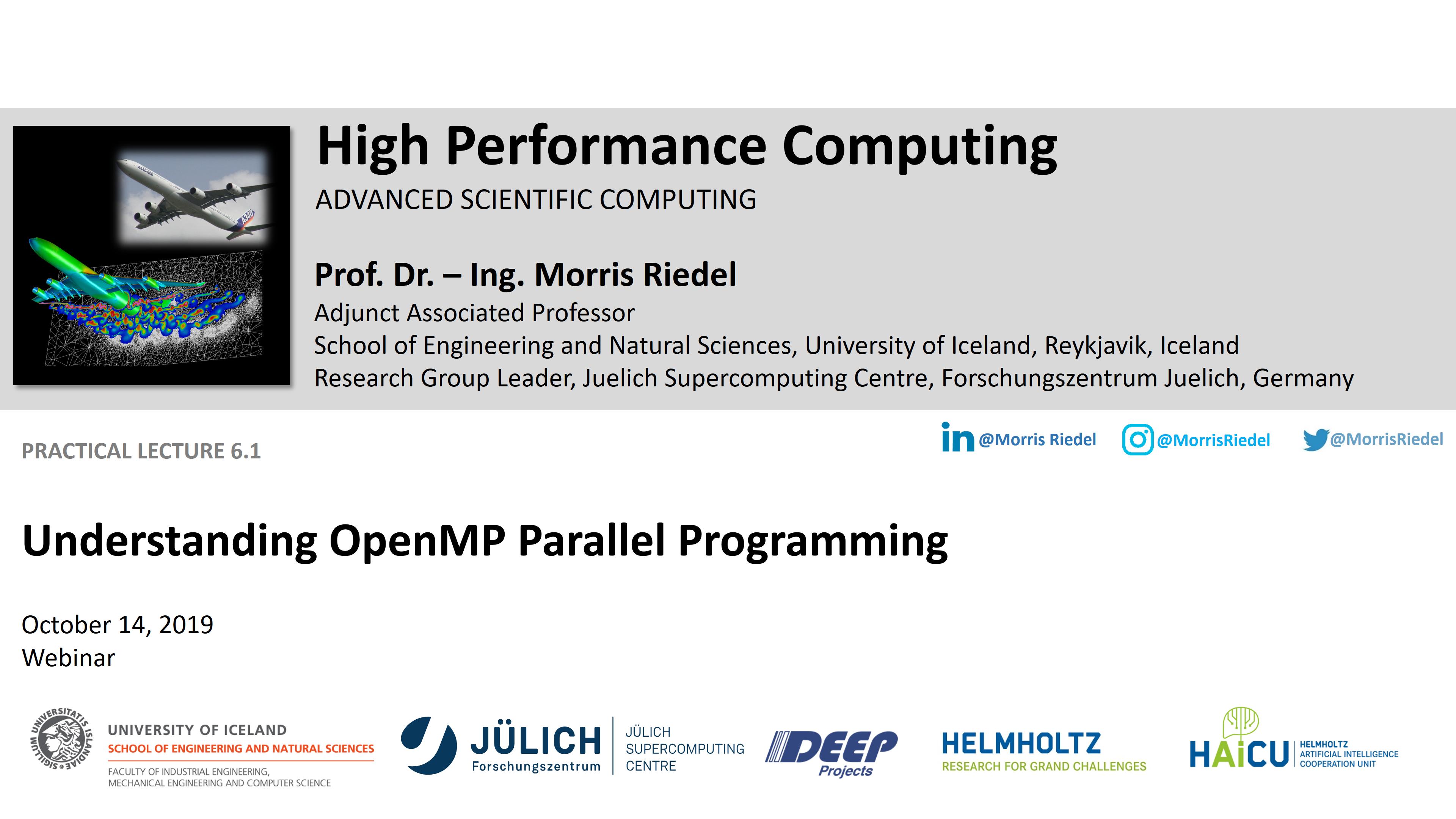 HPC - Understanding OpenMP Parallel Programming