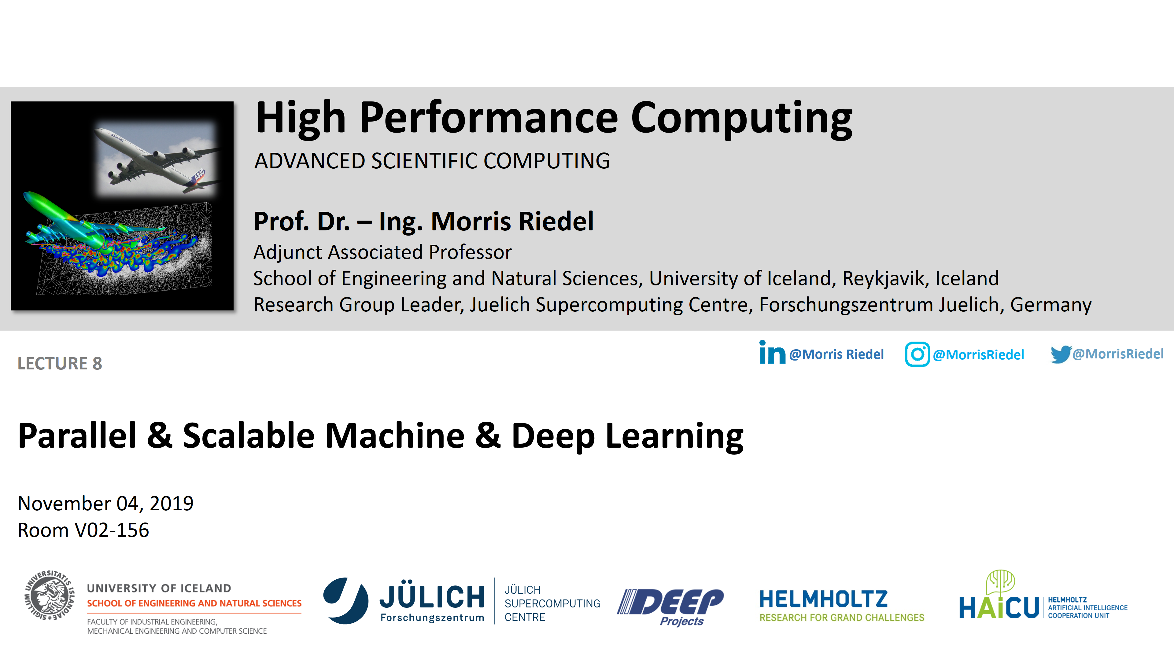 HPC - Parallel and Scalable Machine and Deep Learning