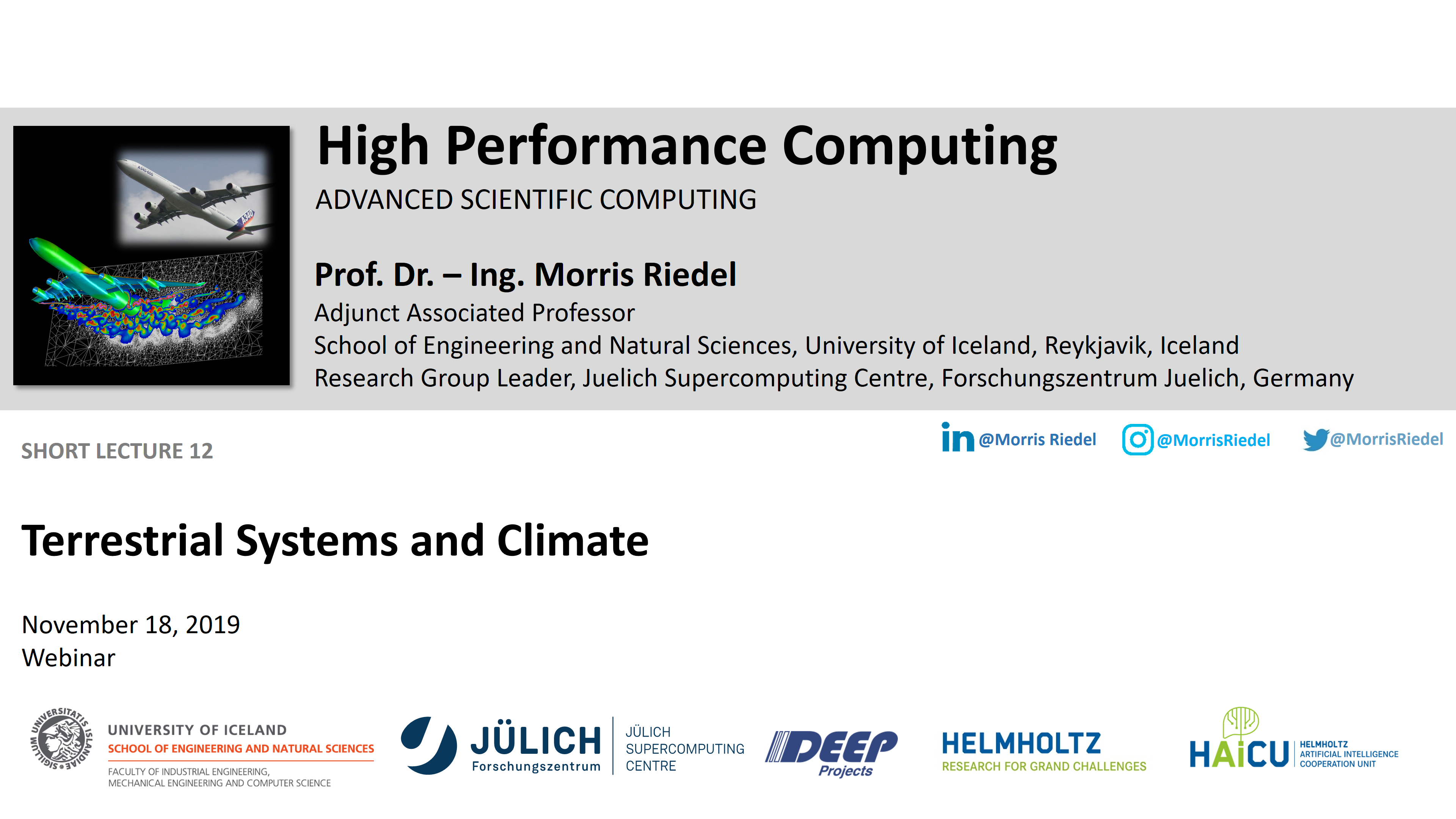 HPC - Terrestrial Systems and Climate