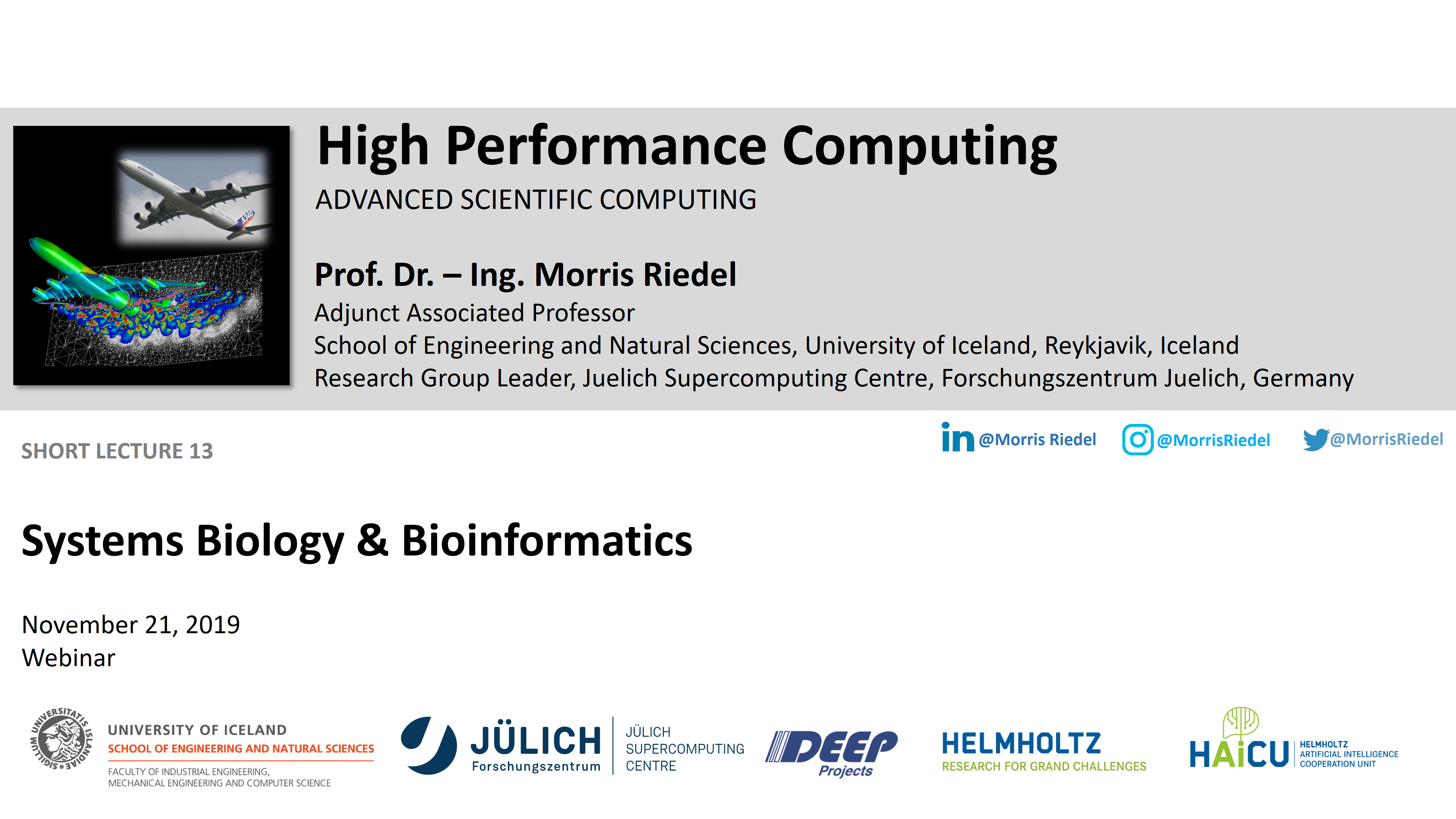 HPC - Systems Biology and Bioinformatics