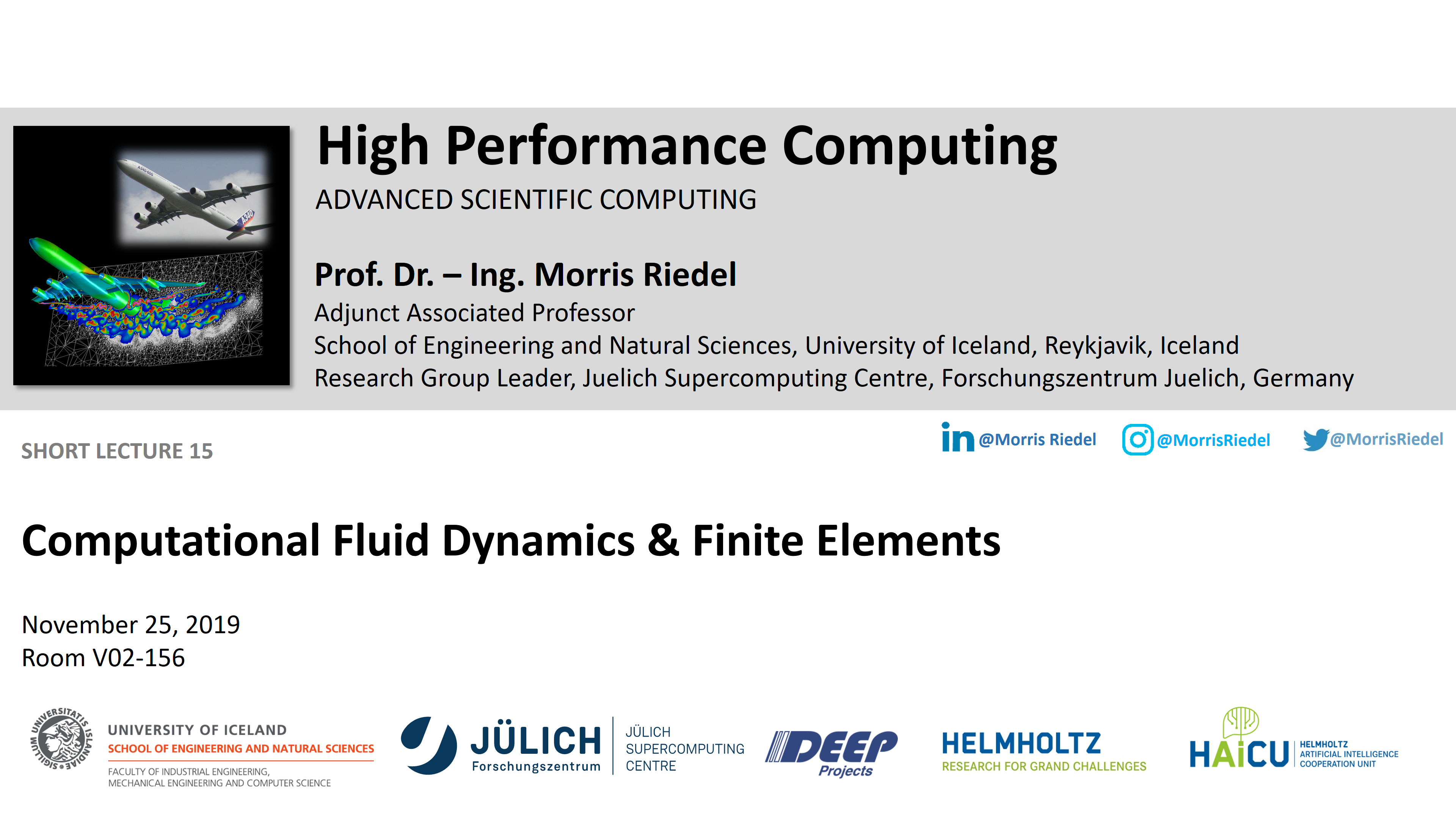 HPC - Computational Fluid Dynamics and Finite Elements
