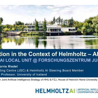 2019-12-02 Collaboration in the Context of Helmholtz Artificial Intelligence Morris Riedel