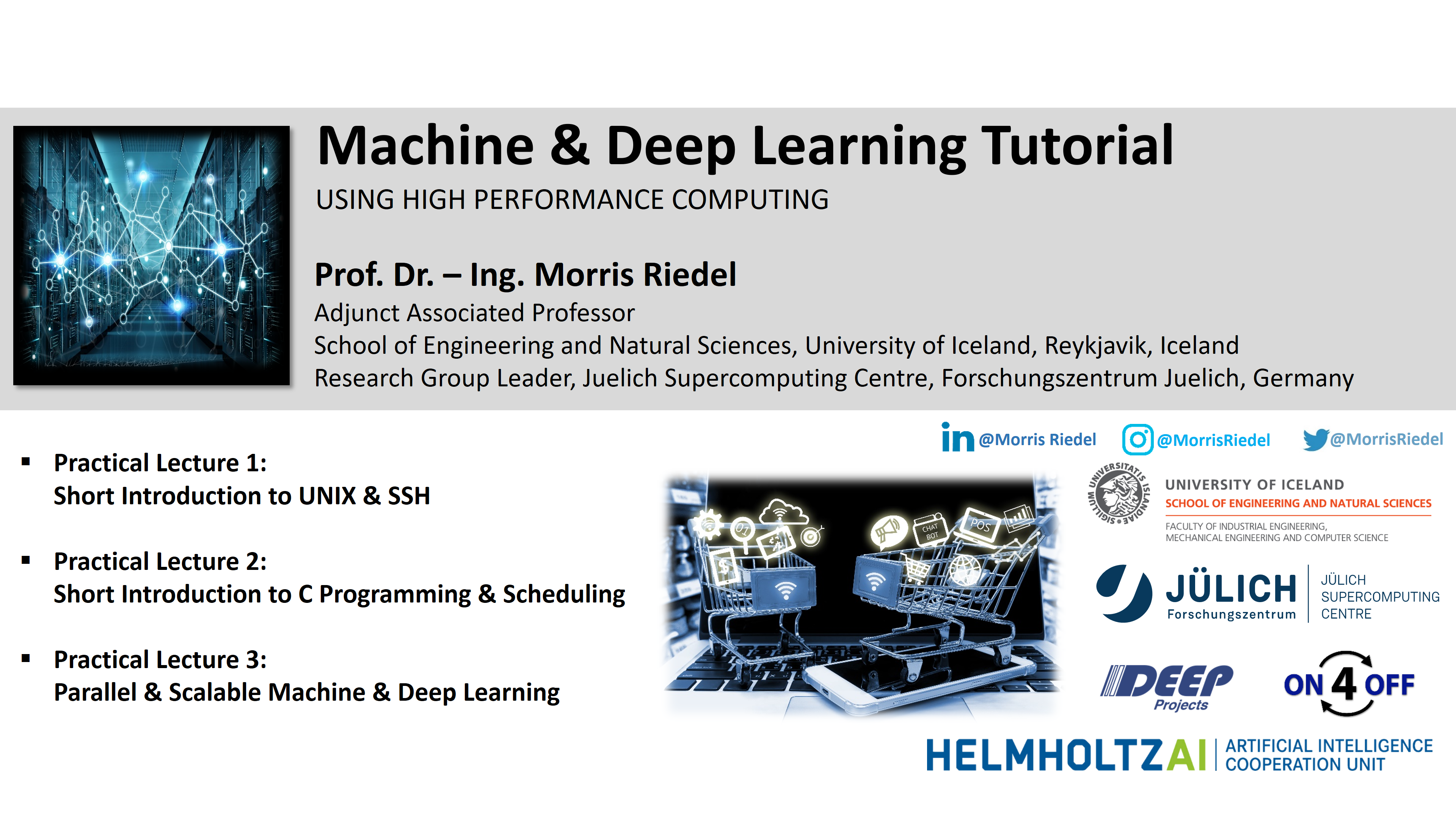 Machine and Deep Learning Tutorial - Using High Performance Computing