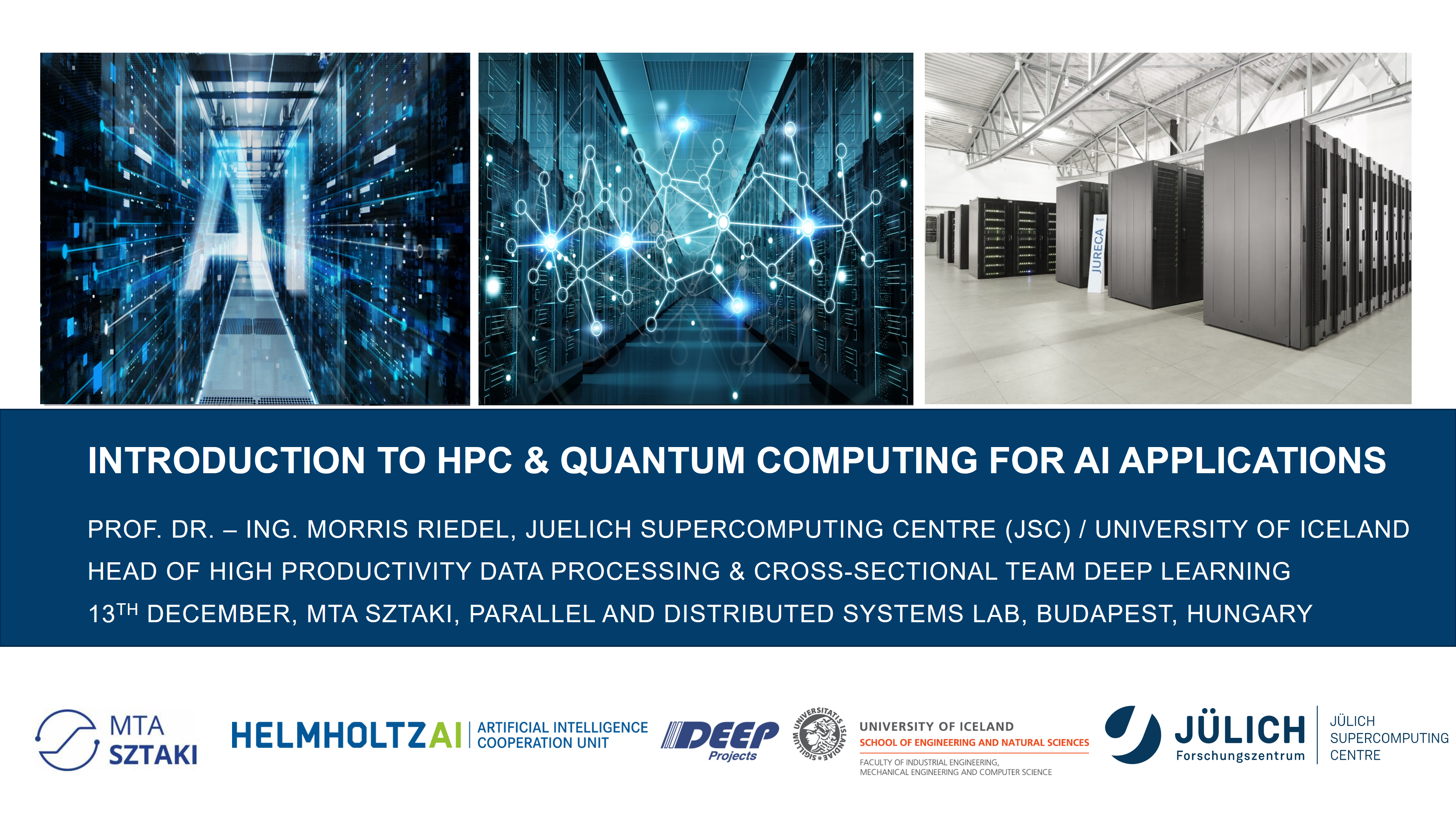 Introduction to HPC and Quantum Computing for AI Applications