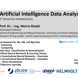 2020-01-20 Artificial Intelligence Data Analysis School for Heliophysicists Morris Riedel