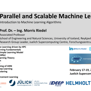 2020-02-17 PRACE Tutorial Parallel and Scalable Machine Learning Introduction Morris Riedel