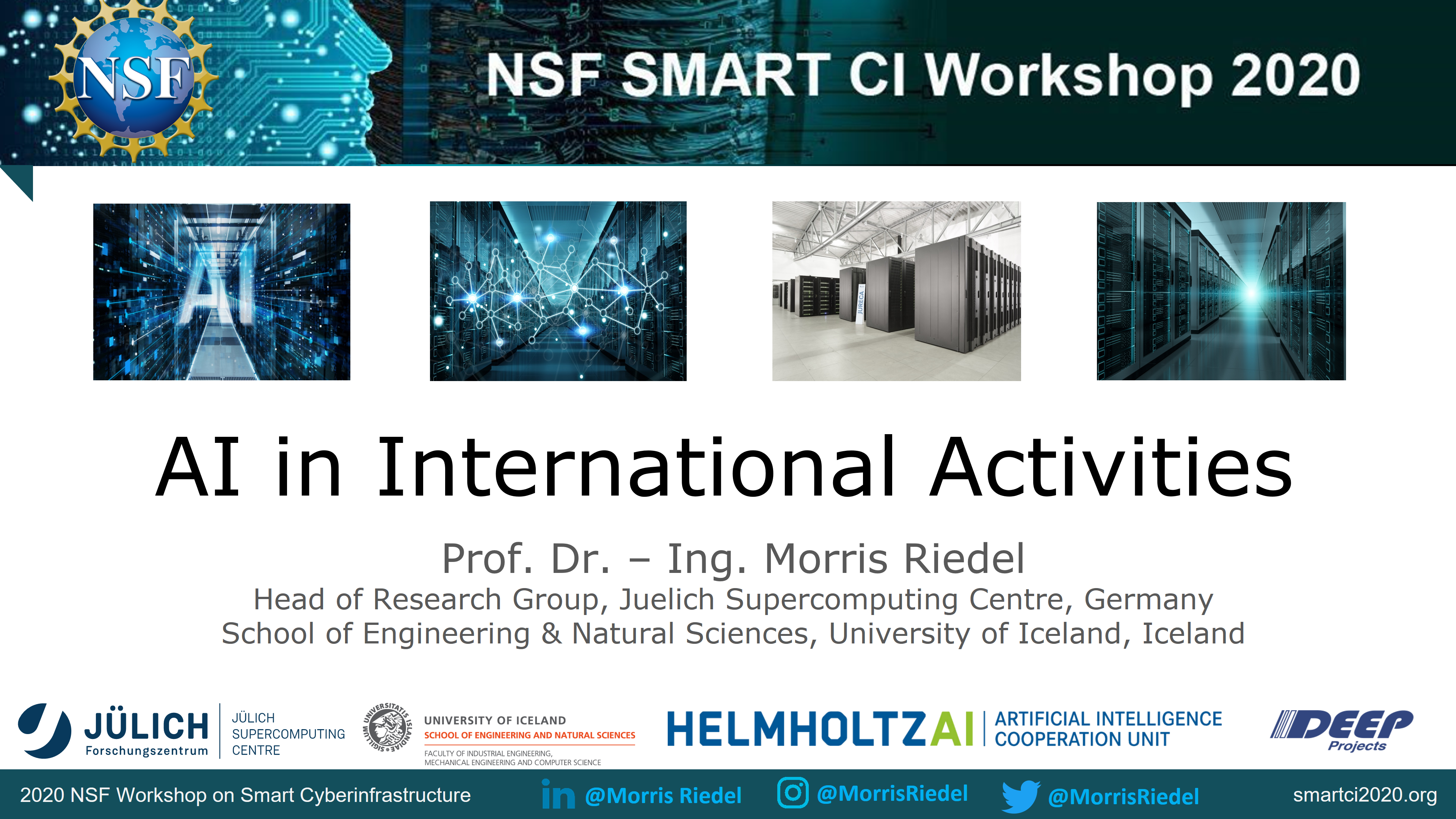 AI in International Activities Morris Riedel