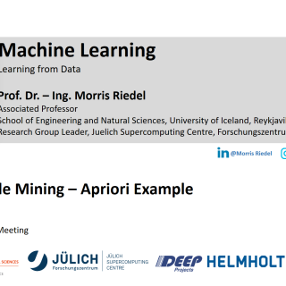 2020-04-24 ON4OFF Demo Association Rule Mining Apriori Example Morris Riedel