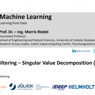 2020-07-02 ON4OFF Demo Collaborative Filtering Singular Value Decomposition (SVD) Example Morris Riedel